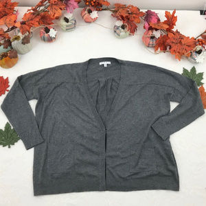 CAbi Cozy Snap Front Double Pocket Cardigan Grey